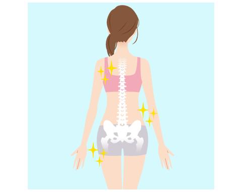体幹部や股関節、足部のマッサージ